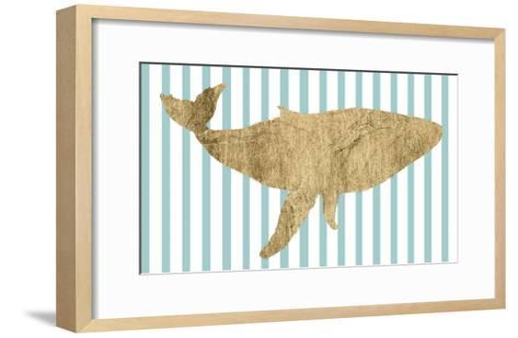 Pin Stripe Whale I-Studio W-Framed Art Print