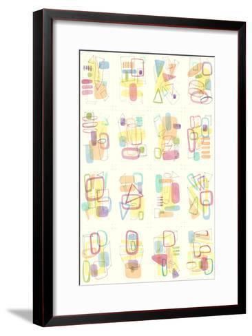 Mid Century Exploration III-Nikki Galapon-Framed Art Print