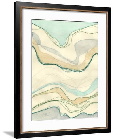 Ocean Cascade I-Vanna Lam-Framed Art Print