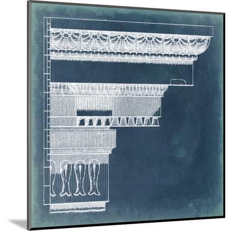 Capital Blueprint II-Vision Studio-Mounted Art Print