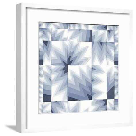 Gradient Indigo III-Nikki Galapon-Framed Art Print