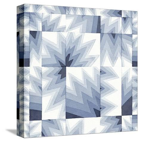 Gradient Indigo III-Nikki Galapon-Stretched Canvas Print