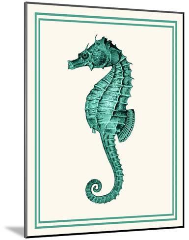 Mixed Nautical Green on Cream e-Fab Funky-Mounted Art Print
