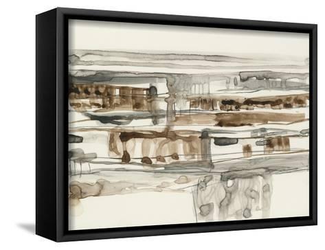 Stark Neutrals II-Jennifer Goldberger-Framed Canvas Print