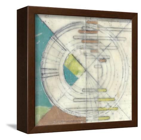 Compass II-Jennifer Goldberger-Framed Canvas Print