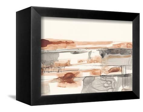 Terra Cotta Lines II-Jennifer Goldberger-Framed Canvas Print