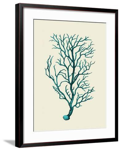 Corals Turquoise On Cream b-Fab Funky-Framed Art Print