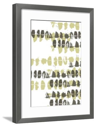 Connect the Dashes Neutral I-Jennifer Goldberger-Framed Art Print