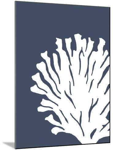 Corals White on Indigo Blue d-Fab Funky-Mounted Art Print