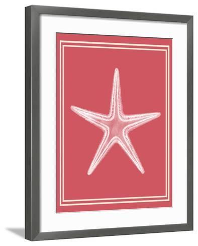 Mixed Nautical White on Coral f-Fab Funky-Framed Art Print