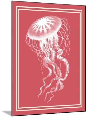 Mixed Nautical White on Coral b-Fab Funky-Mounted Art Print