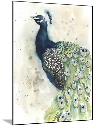 Watercolor Peacock Portrait II-Grace Popp-Mounted Art Print