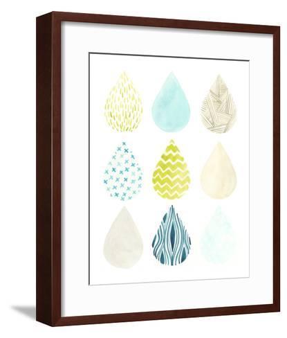 Pattern Drops II-June Erica Vess-Framed Art Print