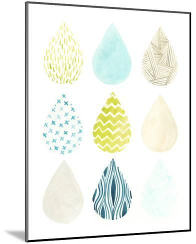 Pattern Drops II-June Erica Vess-Mounted Art Print