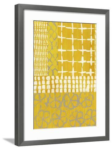Golden Blockprint I-Chariklia Zarris-Framed Art Print