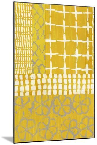 Golden Blockprint I-Chariklia Zarris-Mounted Art Print