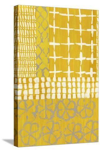 Golden Blockprint I-Chariklia Zarris-Stretched Canvas Print
