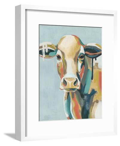 Colorful Cows I-Grace Popp-Framed Art Print
