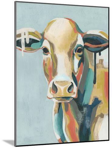 Colorful Cows I-Grace Popp-Mounted Art Print