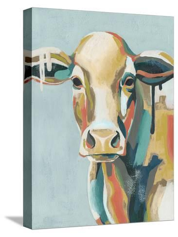 Colorful Cows I-Grace Popp-Stretched Canvas Print