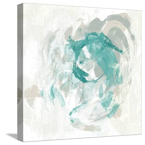 Teal Fog I-June Erica Vess-Stretched Canvas Print