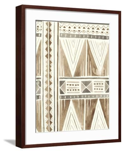 Tribal Impressions I-June Erica Vess-Framed Art Print