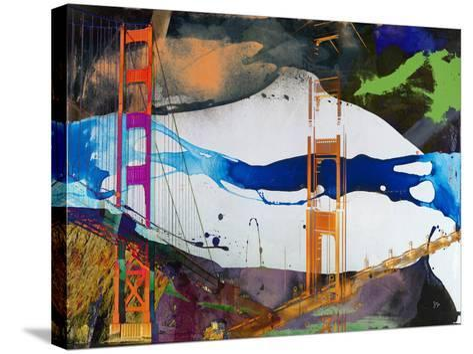 San Francisco Bridge Abstract I-Sisa Jasper-Stretched Canvas Print