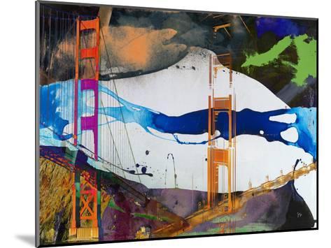 San Francisco Bridge Abstract I-Sisa Jasper-Mounted Art Print