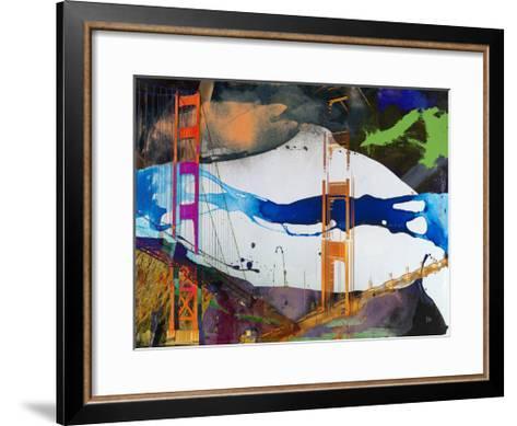 San Francisco Bridge Abstract I-Sisa Jasper-Framed Art Print