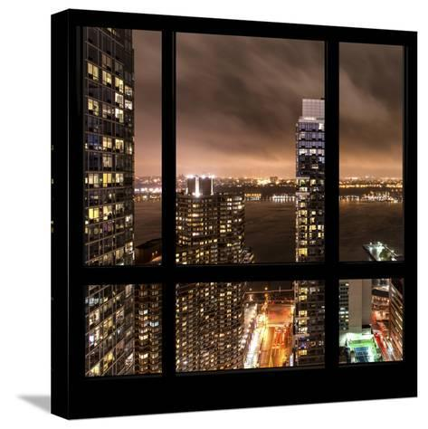 View from the Window - Hudson River New York-Philippe Hugonnard-Stretched Canvas Print