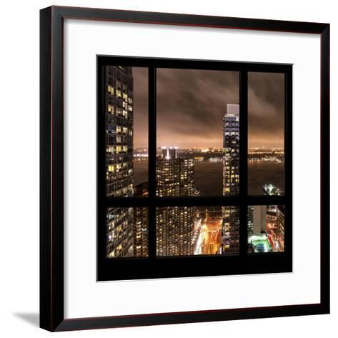 View from the Window - Hudson River New York-Philippe Hugonnard-Framed Art Print