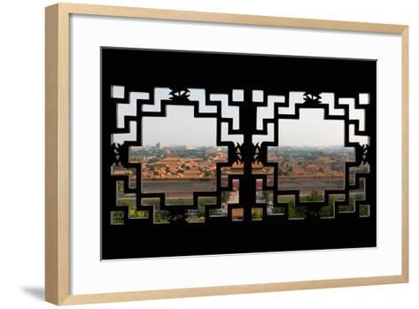 China 10MKm2 Collection - Asian Window - Forbidden City - Beijing-Philippe Hugonnard-Framed Art Print