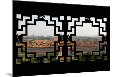 China 10MKm2 Collection - Asian Window - Forbidden City - Beijing-Philippe Hugonnard-Mounted Photographic Print