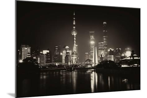 China 10MKm2 Collection - Shanghai Skyline with Oriental Pearl Tower at night-Philippe Hugonnard-Mounted Photographic Print