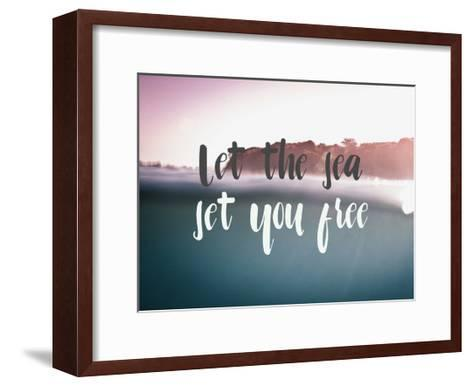 Let the Sea Set You Free-Lila Fe-Framed Art Print