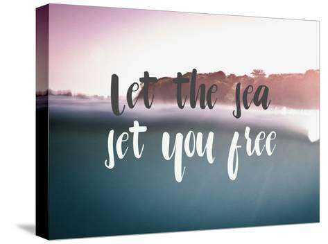Let the Sea Set You Free-Lila Fe-Stretched Canvas Print