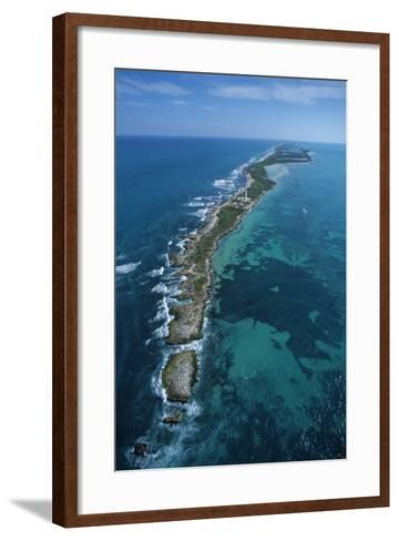 Aerial View of Contoy Island from the North-Claudio Contreras-Framed Art Print