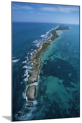 Aerial View of Contoy Island from the North-Claudio Contreras-Mounted Photographic Print