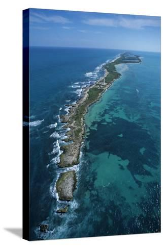 Aerial View of Contoy Island from the North-Claudio Contreras-Stretched Canvas Print