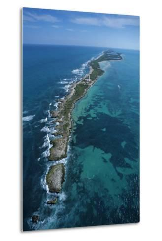 Aerial View of Contoy Island from the North-Claudio Contreras-Metal Print