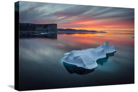 Sunset Off of Scott Island-Brent Stephenson-Stretched Canvas Print