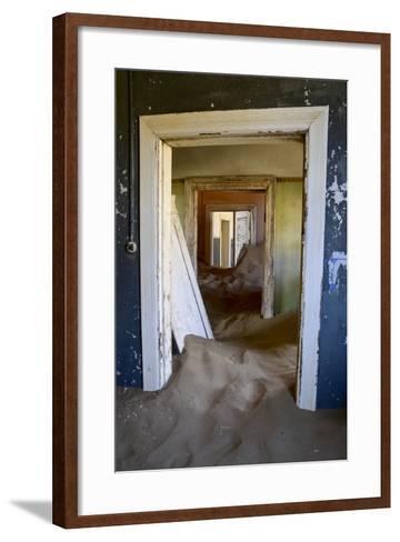 Abandoned House Full of Sand. Kolmanskop Ghost Town, Namib Desert Namibia, October 2013-Enrique Lopez-Tapia-Framed Art Print