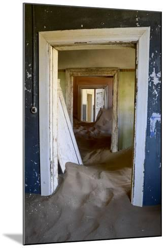 Abandoned House Full of Sand. Kolmanskop Ghost Town, Namib Desert Namibia, October 2013-Enrique Lopez-Tapia-Mounted Photographic Print