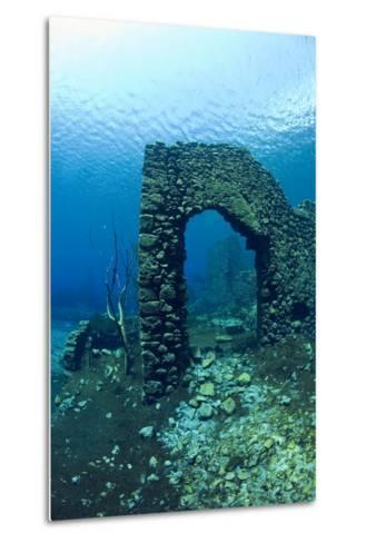 Remains of Submerged Mill, Lago Di Capo D'Acqua, Capestrano, Aquila, Abruzzo, Italy, May 2006-Franco Banfi-Metal Print
