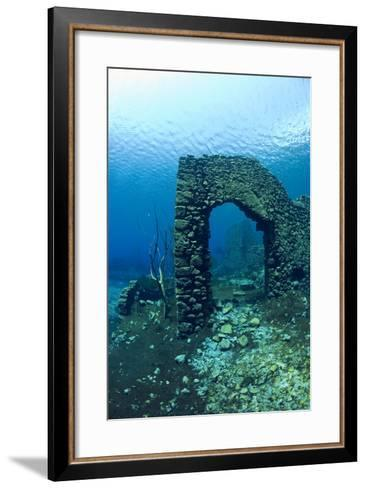 Remains of Submerged Mill, Lago Di Capo D'Acqua, Capestrano, Aquila, Abruzzo, Italy, May 2006-Franco Banfi-Framed Art Print