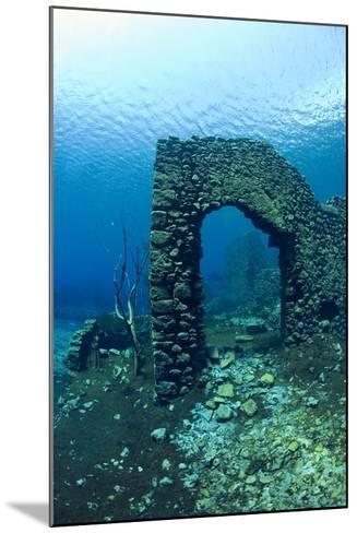 Remains of Submerged Mill, Lago Di Capo D'Acqua, Capestrano, Aquila, Abruzzo, Italy, May 2006-Franco Banfi-Mounted Photographic Print