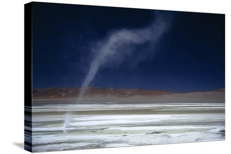 Salar Pujsa, Dust Devil, Atacama Desert, Chile-Rhonda Klevansky-Stretched Canvas Print