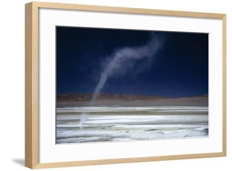Salar Pujsa, Dust Devil, Atacama Desert, Chile-Rhonda Klevansky-Framed Art Print