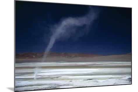 Salar Pujsa, Dust Devil, Atacama Desert, Chile-Rhonda Klevansky-Mounted Photographic Print