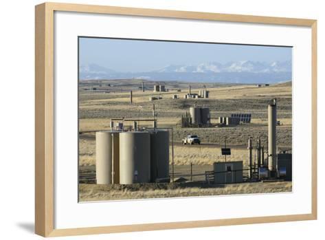 Jonah Natural Gas Field South of Pinedale, Wyoming-Gerrit Vyn-Framed Art Print